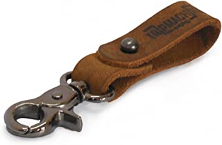 Trip Machine Company Leather Key Chain Black with Antique Gold