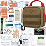 Everlit 180 Pieces Tactical First Aid Kit IFAK Molle EMT Pouch Outdoor Camping Emergency Kits for...