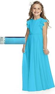 8d8609078c6 Abaowedding Fancy Chiffon Flower Girl Dresses Flutter Sleeves First  Communion Dress