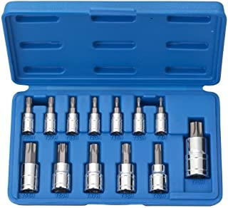 Vector Tamper Proof Torx Bit Socket Set, T8 – T60, S2 Steel | 13-Piece Set