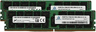 Adamanta 32GB (2x16GB) Server Memory Upgrade Compatible Compatible for SuperMicro Storage Blade SBI-7128R-C6 DDR4 2133MHz PC4-17000 ECC Registered Chip 2Rx4 CL15 1.2v DRAM RAM