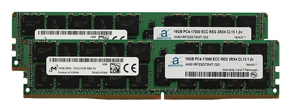 拡張怠要件Micron オリジナル 32GB (2x16GB) サーバーメモリー Dell Precision 5810 DDR4 2133MHz PC4-17000 ECC 登録チップ 2Rx4 CL15 1.2V SDRAM Adamanta
