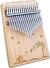 MAODOXIANG Thumb Pianos Kalimba Thumb Piano 17 Keys with Mahogany Wood Portable Mbira Finger Piano Gifts for Kids and Pian...