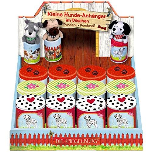 Spiegelburg 11703 Hunde-Anhänger im Döschen Lustige Tierparade, sortiert-Preis für 1 Stück