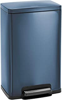 Tramontina 81200/564DS Blue Contemporary Rectangular Step Can Freshener System, Trash Can, 13-Gallon …