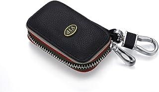 YIKA Carbon Fiber Style Black Carbon Fiber Texture Leather Car Key Case Cover Holder Pouch Remote Key Chains Key Bag2018 up S Class 2017 2018 W213