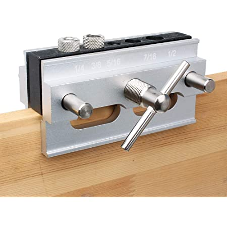 3//8-Inch Shaft and Chuck Depth Stop Included Kings County Tool Portable Drill Guide Jig 5-Degree Increments Convert Hand Drill to Drill Press Bore Up To 45-Degree Angles