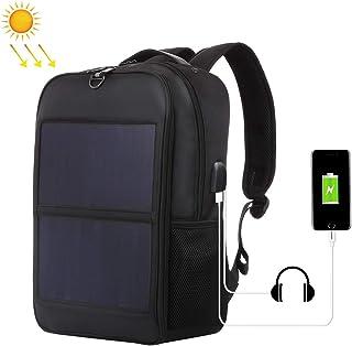 HAWEEL Flexible Solar Panel Power Backpack Laptop Bag with Handle and USB Charging Port Travel Bag