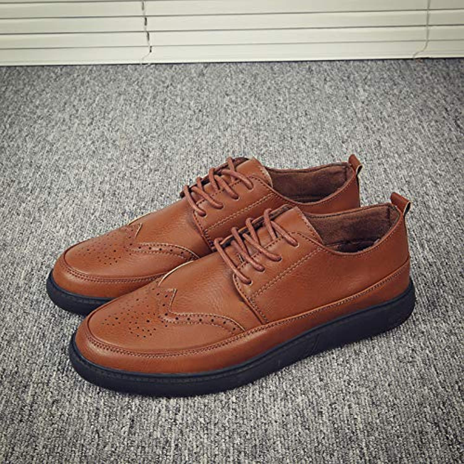 LOVDRAM Men'S Leather shoes Spring Trend Brock Men'S shoes Fashion New Casual shoes Men