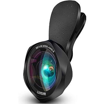 スマホ用カメラレンズ クリップ式レンズ 広角レンズ マクロレンズ 自撮りレンズ - Luxsure 2020 簡単装着 ローズ型2in1