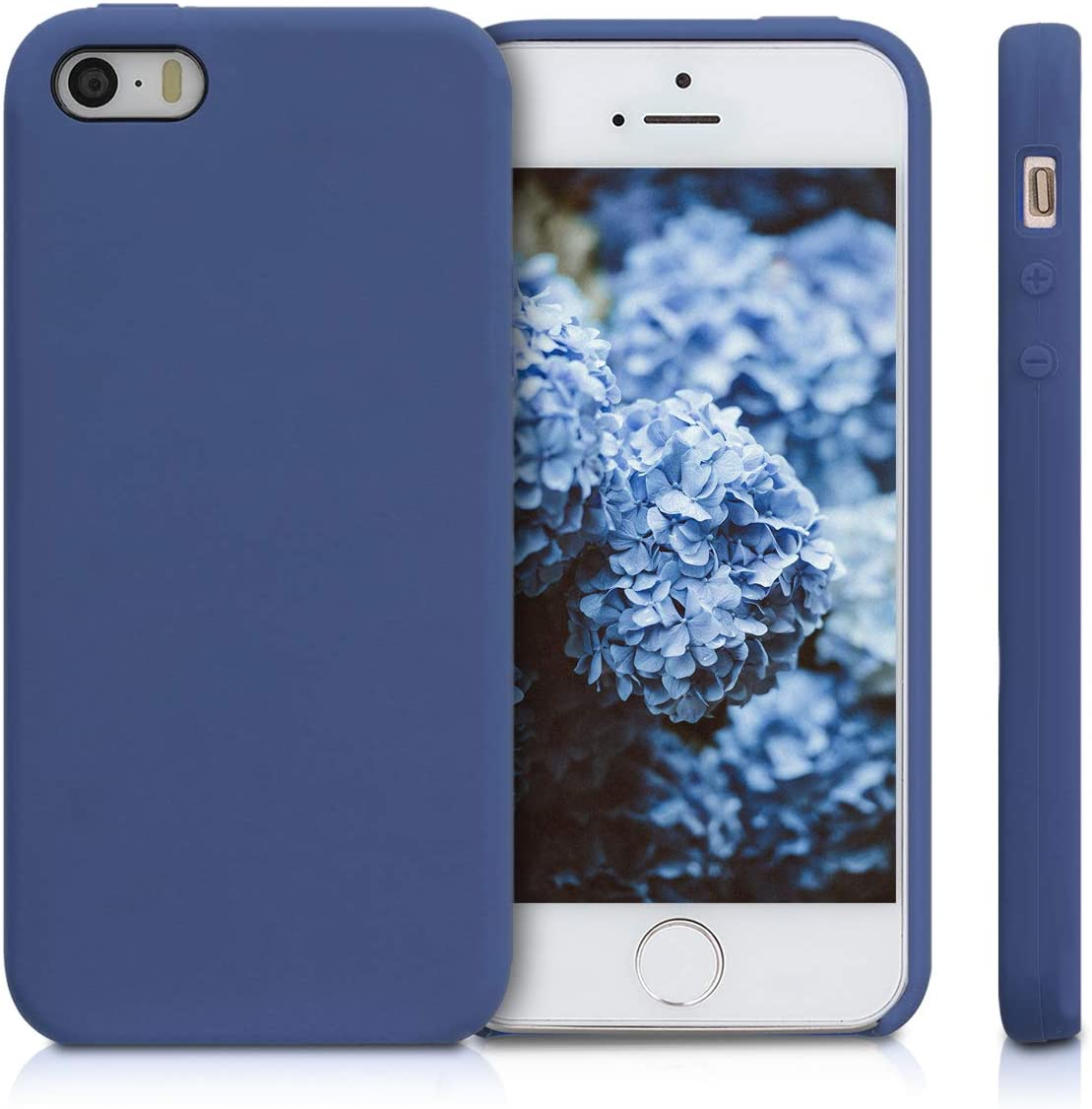 kwmobile TPU Silicone Case Compatible with Apple iPhone SE (1.Gen 2016) / 5 / 5S - Case Slim Phone Cover with Soft Finish - Cornflower Blue