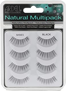 Ardell False Lashes, Natural Babies Black x 4 pairs