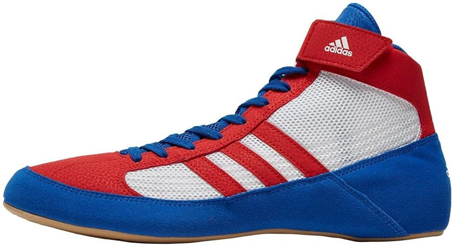 Adidas Havoc Mens Adult Wrestling Trainer shoes Boot Red White bluee