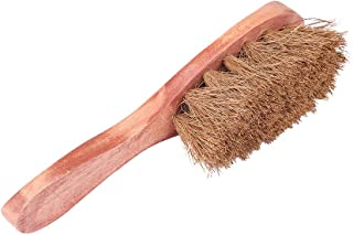 Natural Coconut Fiber Body Brush Scrub with Wooden grip handle - Unclogs pores, Exfoliates and prevents Cellulite build-up - Suitable for all skin type