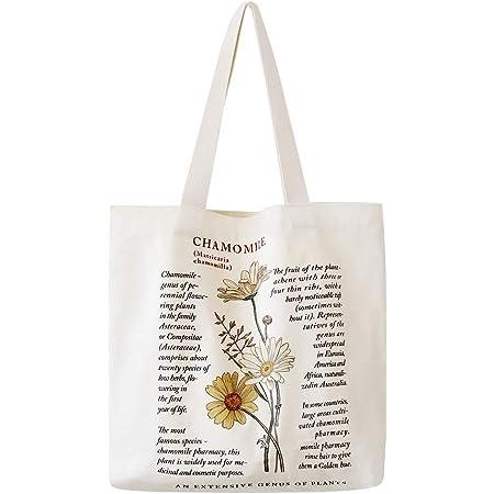 bainuote Einkaufstasche Damen Tragetasche Unisex Stofftasche Canvas Tasche Schultertasche Wiederverwendbare Umhängetasche Langlebig Handtasche mit Innentasche für shopper,büro,alltag,Freizeit