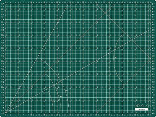 Base de corte 60x45 cm (A2) 3mm de grosor en CENTÍMETROS y PULGADAS, auto cicatrizante de alta calidad- Kadusi