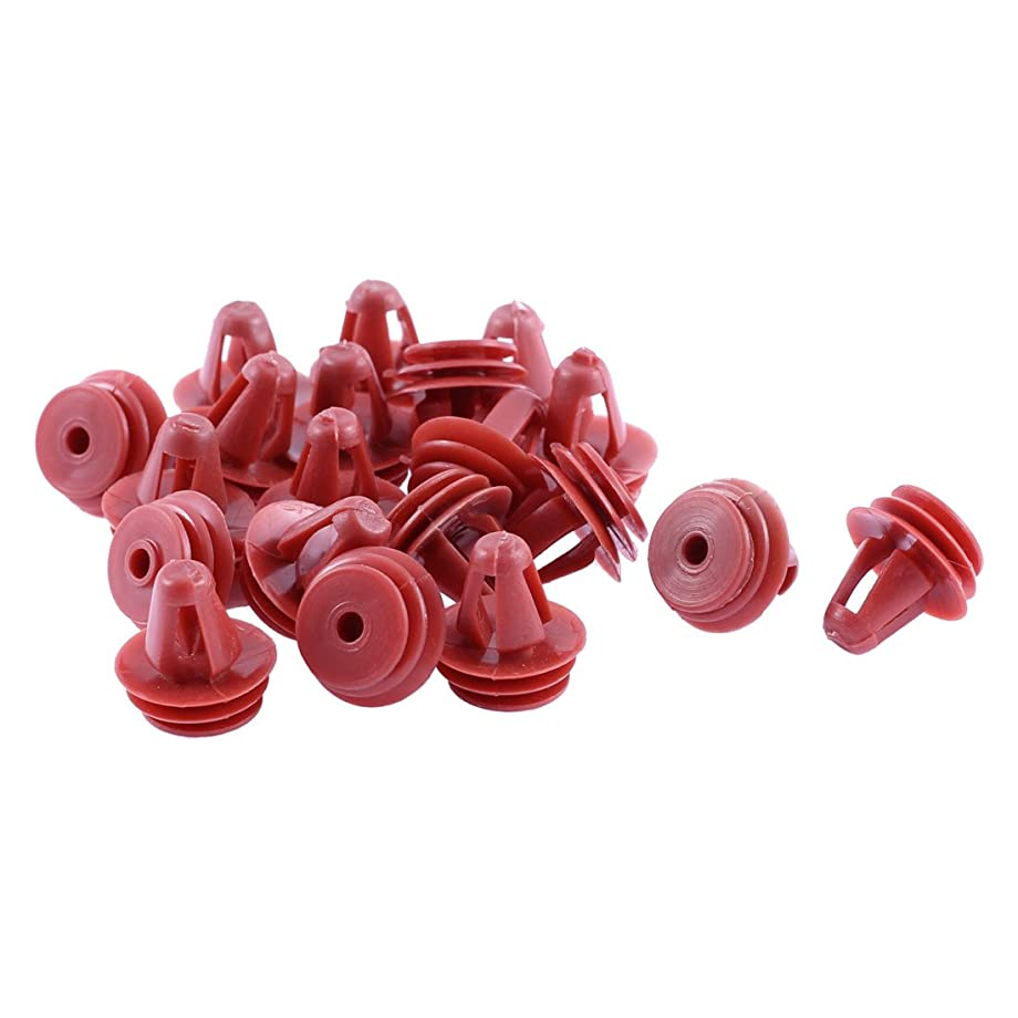 uxcell 20 Pcs 9mm x 17mm Splash Bumper Guard Defender Door Clips Red