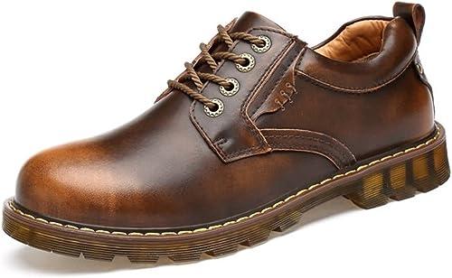 Z.L.F Z.L.F Chaussures Richelieus pour Hommes Talon Plat Couleur Unie en Cuir PU Chaussures Formelles rétro Modernes Chaussures en Cuir (Couleur   Brass, Taille   41 EU)  promotions discount