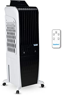 Symphony Diet 3D - 30i Tower Air Cooler with Magnetic Remote, 3-Side Cooling Pads - 30L, White and Black
