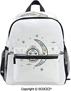 SCOCICI Stylish Children's Bookbag Ethnic Aztec Moon Sun Back-to-School Gift