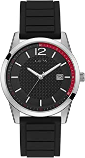 Guess Mens Quartz Watch, Analog Display and Silicone Strap W0991G1