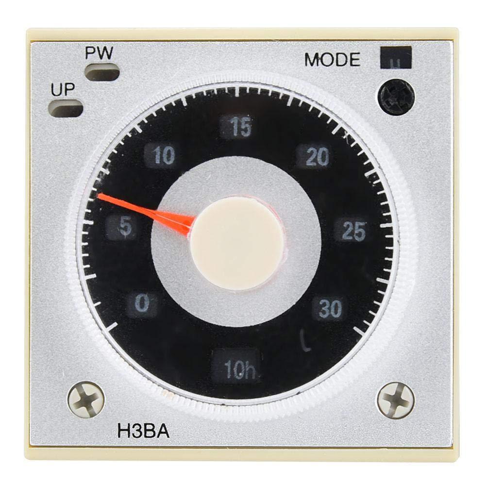 H3BA-N8H Relé temporizado multifunción Relé temporizador de 8 pines de 1,2 s a 300 h 220 V CA/24 V CC/CA opcional con manual de usuario (24 VDC/AC)