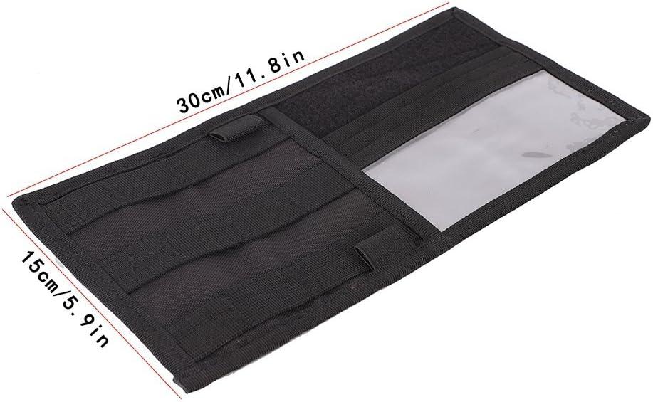 pochette de rangement en nylon 600D multi-poches pour voitures permis de conduire CD lunettes cartes Balight Organisateur de pare-soleil de voiture