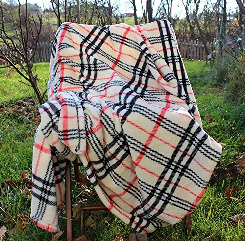 "Tache Super Soft Warm Tartan Plaid Bedside Comfort Throw Blanket  50"" x 60"""