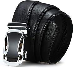 Fashion Belt Men's Leather Belt, Alloy Automatic Buckle Dress Suit Durable (Color : C2, Size : 120cm)