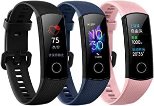 Huawei Honor Band 5 Smart Bracelet for 240 * 120 Pixels 8 Customize Fitness/Timer/Swim/Sleep Data Heart Rate Monitoring Multiple Sports Modes Wristwatch(black)