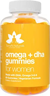 Torrie's Naturals - Omega 3 6 9 & DHA Gummies for Women, Vegetarian with Vitamin C & Chia, Supports Brain, Joints, Cardiov...