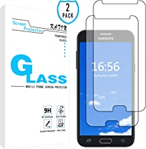 KATIN Galaxy J3 2017 Screen Protector - [2-Pack] Tempered Glass for Samsung Galaxy J3 Emerge / J3 Prime / J3 Eclipse / J3 Mission / J3 Luna Pro Bubble Free with Lifetime Replacement Warranty