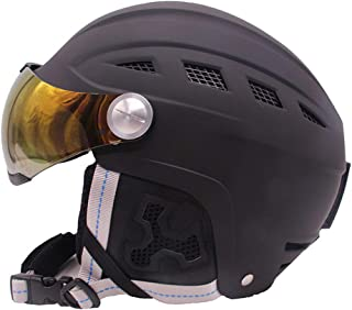 Details about  /Ski Snowboard Helmet With Visor Goggles Sled Sport Adult Safety Windproof Winter