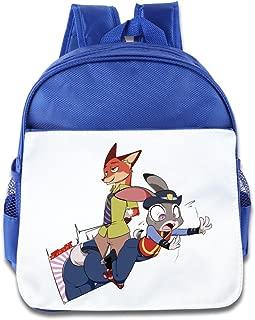 Hello-Robott Zootopia 2016 Film School Bag Backpack Pink
