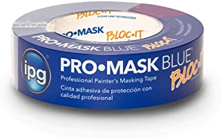 """IPG ProMask Blue with BLOC-It, Premium 14-Day Masking Tape, 1.41"""" x 60 yd, Blue, (Single Roll)"""