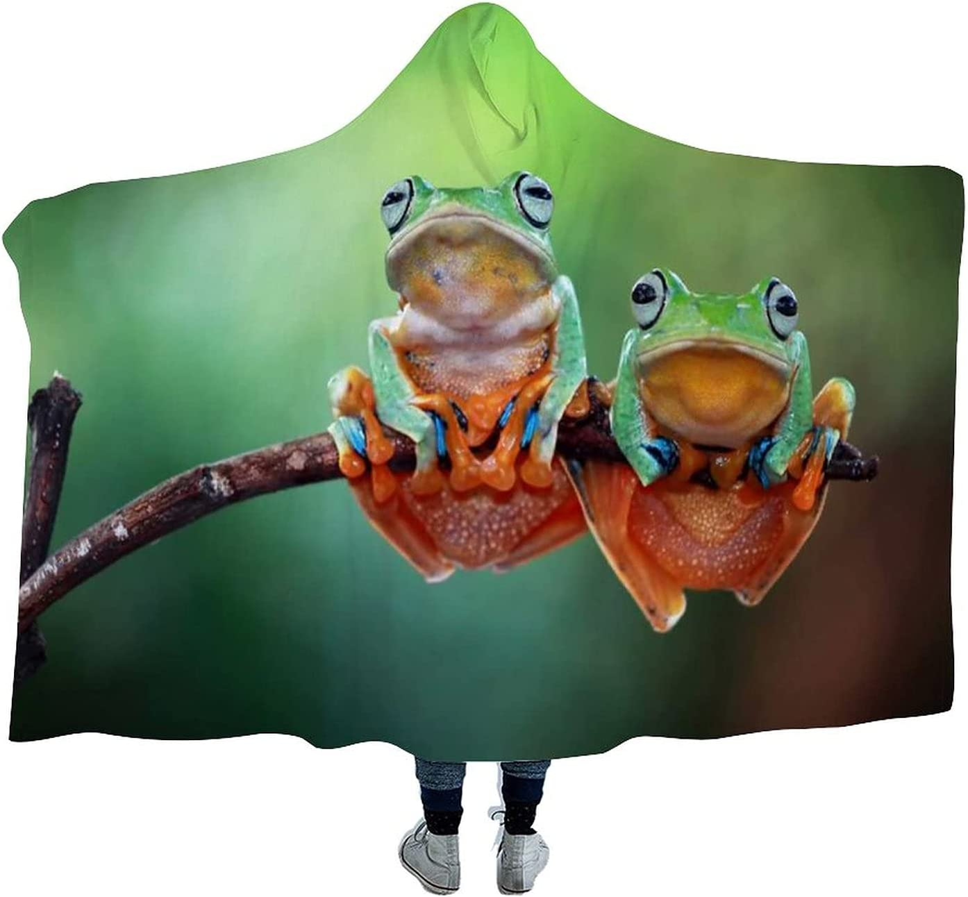 Tree Frog Flying Wearable Hooded Cloak Blanket Max 51% OFF for Cheap SALE Start Wa Soft