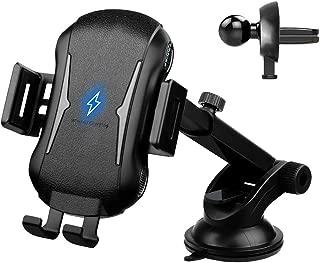 Flying 車載Qi ワイヤレス充電器 車載 ホルダー 10W/7.5W/5W急速ワイヤレス充電器車載スマホホルダー 360度回転 粘着式&吹き出し口2種類取り付 iPhone X/XR/XS/XSMAX/8/8 Plus/Galaxy S9/S8/S8 Plus/S7/S7 Edge/S6/S6 Edge/Note 8/Note 5/Nexus 5/6等に適用ワイヤレス充電機種に対応[2019年最新]
