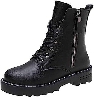 ZOSYNS Dames veterlaarzen winterlaarzen katoenen schoenen korte laarzen warm gevoerd mode casual comfortabele antislip enk...