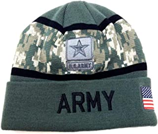 0f6dafb34d466e Icon Sports Group Inc. U.S. Armed Forces Military Camo/Solid Beanie Hat  Winter Ski