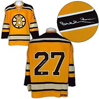 Bobby Orr Autographed Jersey - Rookie Pre Season #27 CCM Vintage : GNR COA - Autographed NHL Jerseys