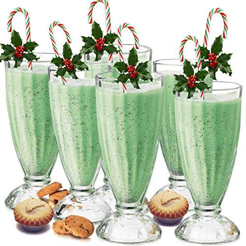 Milchshake melkshake-glas, 340 ml, 6 stuks