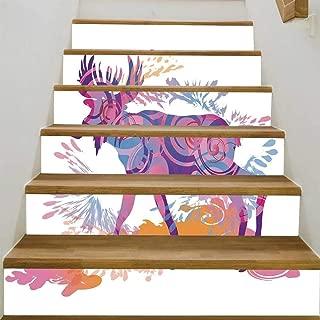 YOLIYANA Moose Decor Stair Tread Stickers