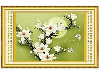 Kreuzstich Stickpackung Stickbild Stickvorlage vorgedruckt Blumen Magnolie HA008