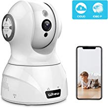 Wireless Home Security Camera, Whew 1080P WiFi IP Camera Compatible with Alexa, Night Vision Baby Monitor Nanny Camera Pet Camera with 2-Way Audio, Motion Detection, Cloud Storage