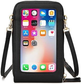 Klein Handy Umhängetasche Damen Touchscreen Geldbörse Geldbeutel Crossbody kleine Handytasche Handtasche Brieftasche Zum U...