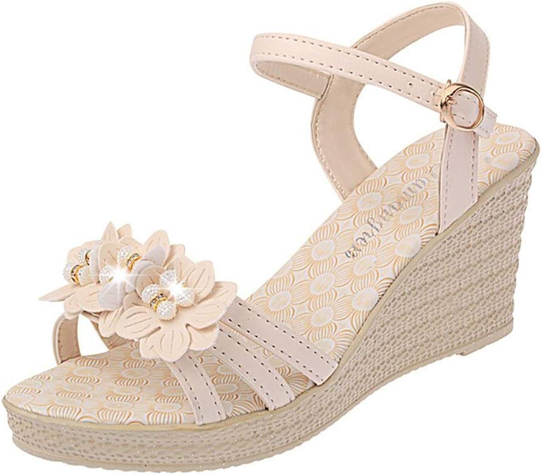 F1rst Rate Womens Platform Wedge Espadrille Heel Peep Toe Slingback Sandals