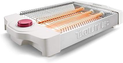 Taurus Neptuno Plus -Grille-pain plat 900W, 12 niveaux de brunissage, Arrêt automatique, Ramasse-miettes, Blanc