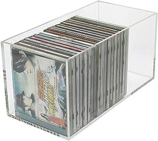 Estanterías para CD DVD Caja de almacenamiento de CD transparente, Soporte de exhibición de acrílico de cinta magnética pa...
