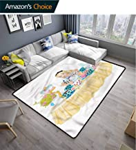 TableCoversHome Alice in Wonderland Traditional Area Rug Living Room, Famous Scene Pattern Printing Rugs, Fashionable High Class Living Dinning Room (2'x 6')