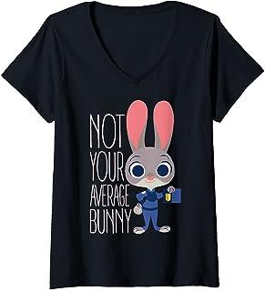 Femme Disney Zootopia Judy Hopps Average Bunny T-Shirt avec Col en V